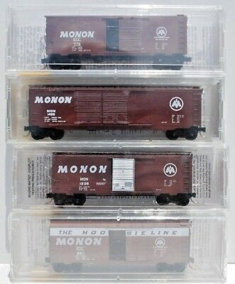 Set of 4 x N Scale Box Cars. - Chicago, Indianapolis & Louisville - Monon.