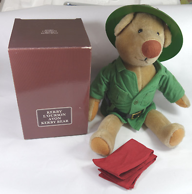 Avon Kerby Bear w/Safari Suit, Box, Nice!