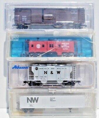 Mixed Set of 4 x N Scale Freight Cars. Norfolk & Western.