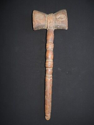 An Early And Fine Archaic Yoruba Nigeria Shango Staff