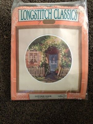 Semco Long Stitch Kit Cottage Door Not Started