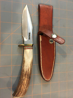 """Randall knife model 8 or 5 or Denmark 4"""" 3/16 stag handle right hand sheath"""