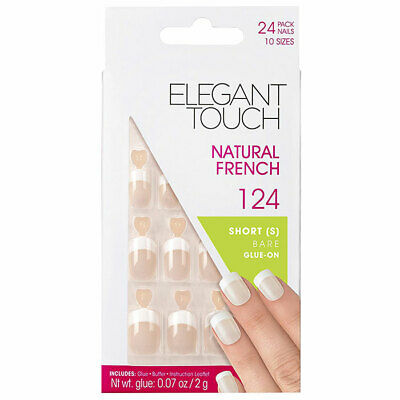 Elegant Touch Natural French Short Bare Glue On 124