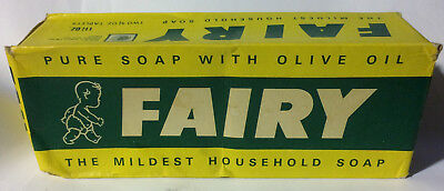 Vintage 1940's FAIRY Brand Pure Soap w/ Olive Oil Unopened Box of 2 Bars England