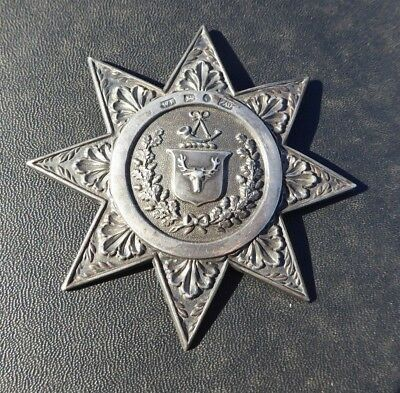 Victorian Order Of Ancient Foresters Silver Star Jewel Badge  Hallmarked 1843
