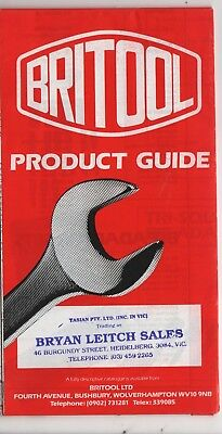 4 Britool brochures - Nut tightening data, product guide, going metric + one