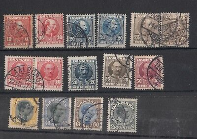 1905-1925 DENMARK 3 kings selections with high cat value