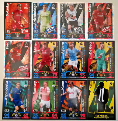 Match Attax 2018/19 18/19 Elite Attackers International Stars Title Winners