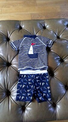 NEXT Baby Boy's Swim Outfit With Boat Motif 9-12 Months