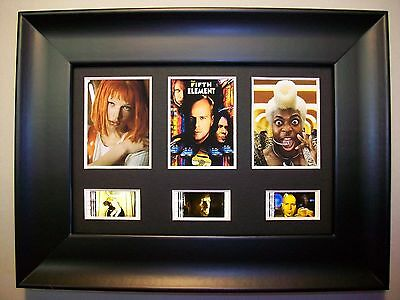 FIFTH ELEMENT Framed Trio Movie Film Cell Memorabilia Collectible Gift