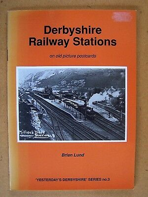 """DERBYSHIRE RAILWAY STATIONS."" British trains BOOK."