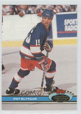 1991-92 Topps Stadium Club #132 Pat Elynuik Winnipeg Jets Hockey Card