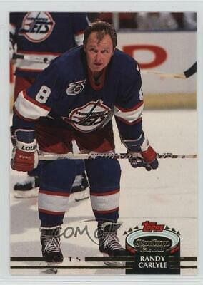 1992-93 Topps Stadium Club #332 Randy Carlyle Winnipeg Jets Hockey Card