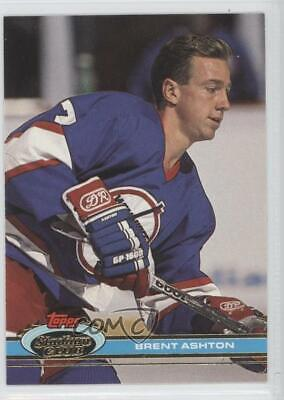 1991-92 Topps Stadium Club #90 Brent Ashton Winnipeg Jets Hockey Card