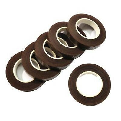 12 Reels Of Brown Floral Florist Tape Waterproof Buttonholes Stemwrap
