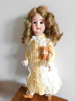 Antique French Doll Lanternier Al & Cie Bisque Org. Price 675 shipping sticker