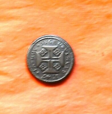 """Portugal 1747  """"ONE MOIDERE WEIGHT"""" VF/EX  RARE !!"""