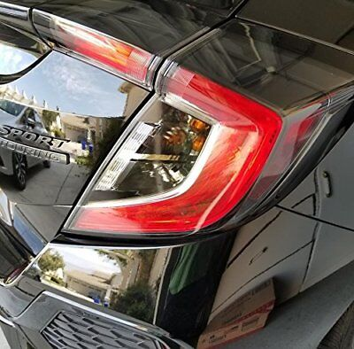 PreCut Smoke Tint Overlays for 2017 2018 Civic Hatchback Tail Light Signal