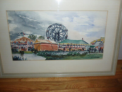 watercolor painting by artist S. J. La Susa Salmagundi Sand Lot Fair original
