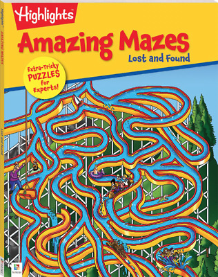Highlights Amazing Mazes: Lost & Found 64 Page Puzzle Fun Learn Kids Maze Book