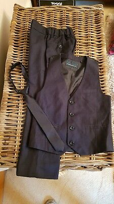 Age 5 - Next navy waistcoat and trousers with Velcro tie