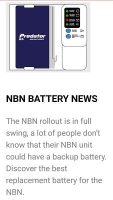 NBN Battery NP7-12T Genesis equivalent replacement 12v 7ah F2 terminal