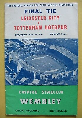 LEICESTER CITY v TOTTENHAM HOTSPUR FA CUP FINAL 6th MAY 1961 WEMBLEY