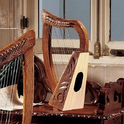 Replica Medieval 10th Century Celtic Rosewood & Mahogany Full 12 String Harp