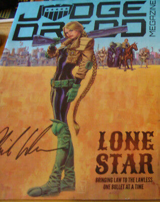 2000AD Judge Dredd Megazine 363 signed by Phil Winslade. Charity auction