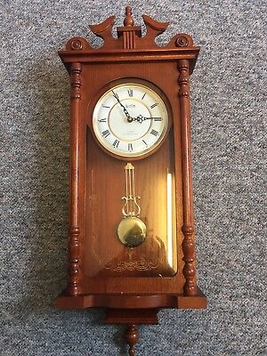 Vintage-Acctim-Westminster-Chime-Quartz-Pendulum-Wall-Clock