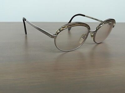 Vintage Buris Sidonie White Gold Filled Eyeglasses /sunglasses Frame