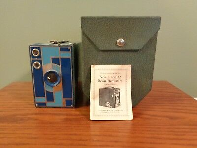 Blue beau brownie, excellent condition with original carry case and instructions