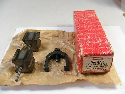 Vintage STARRETT # 271C V-BLOCKS AND CLAMP in Box