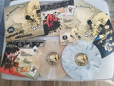 Metallica - Pounding Out Aggression Promo Edition - 2Lp 1Cd Clear & Grey Vinyl!