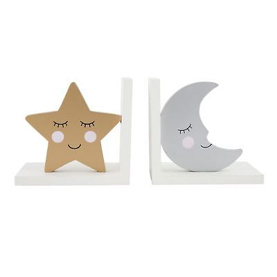 Sweet Dreams Moon And Star Bookends For Child's Bedroom Nursery Sass & Belle