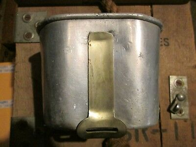 ORIGINAL WWII WW2 1943 Folding  M1910 Canteen Cup For Belt Carrier Pouch#10142