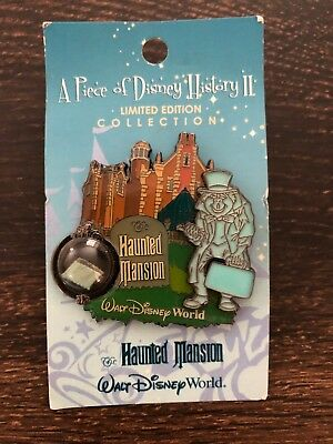 Haunted Mansion Walt Disney World Piece of History II pin LE Hitchhiking Ghost