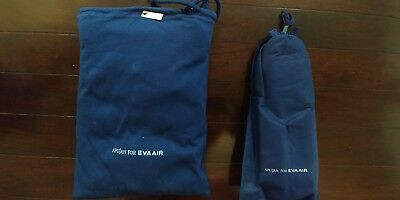 Eva Air Royal Laurel Business Class APUJAN Pajama & Bonus Slipper Set-Blue (L)