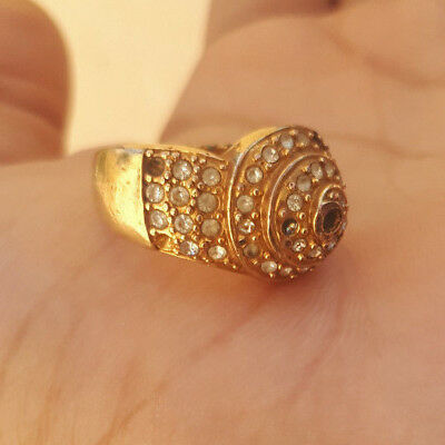 EXTREMELY Ancient VIKING BRONZE RING museum quality ARTIFACT RARE type -unique