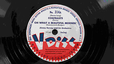 V-Disc - Jimmy Dorsey: Contrasts / Erskine Hawkins: Don't Cry Baby