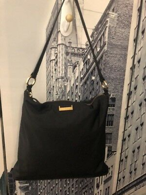 Kate Spade New York Square Black Nylon Handbag Purse