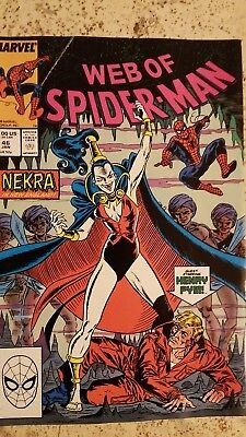 Web of Spider-Man 46 Very Fine VF