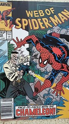 Web of Spider-Man 54 Very Fine VF
