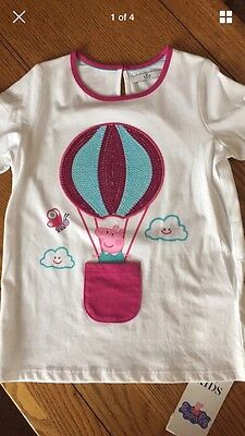 Marks & Spencer Pepper Pig T-Shirt Age 6-7 Years Bnwt