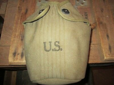 WWII WW2 ORIGINALM1910 canteen cover  US MILITARY US ARMY#10155