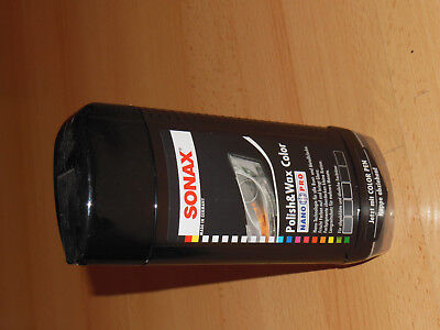 SONAX Polish & Wax Color Nano Pro Wachs Farbpolitur Schwarz 500ml inkl Color Pen