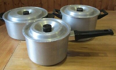 AGA / Agalux set of 3 pans - ideal for stove top or ovens