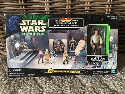 Star Wars The Power of the Force Jabba's Palace 3-D Diorama with Han Solo NIB