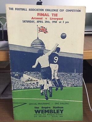 Arsenal v Liverpool - 1950 FA Cup final Official Programme