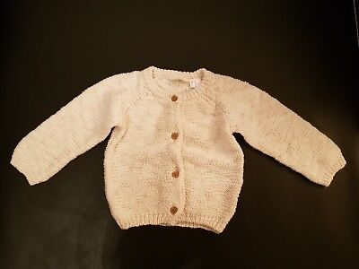 Baby Strickjacke LUPILU PURE COLLECTION beige Gr.62/68